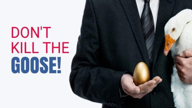 Killing the Goose That Lays the Golden Egg: How the Liberals' War Against Trump Will Destroy America