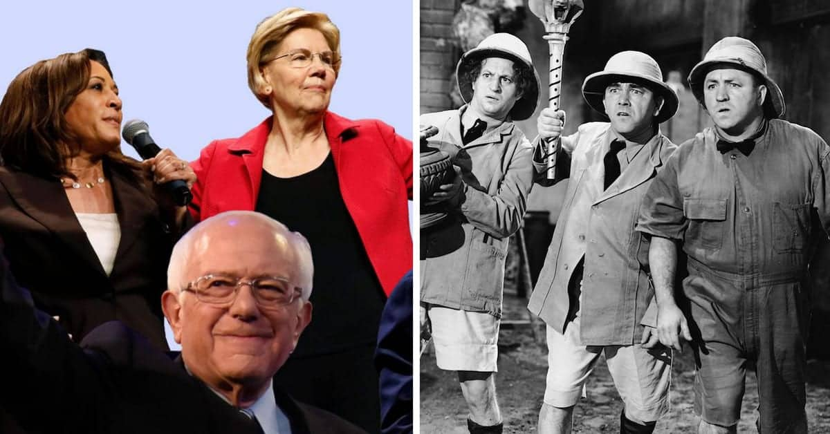 What do the Socialist Stooges and Three Stooges have in common?