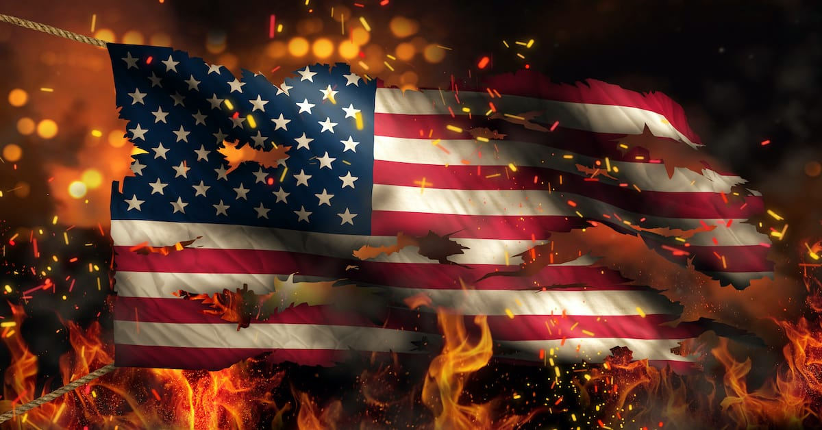 America Burns From Within Only If We Are Silent