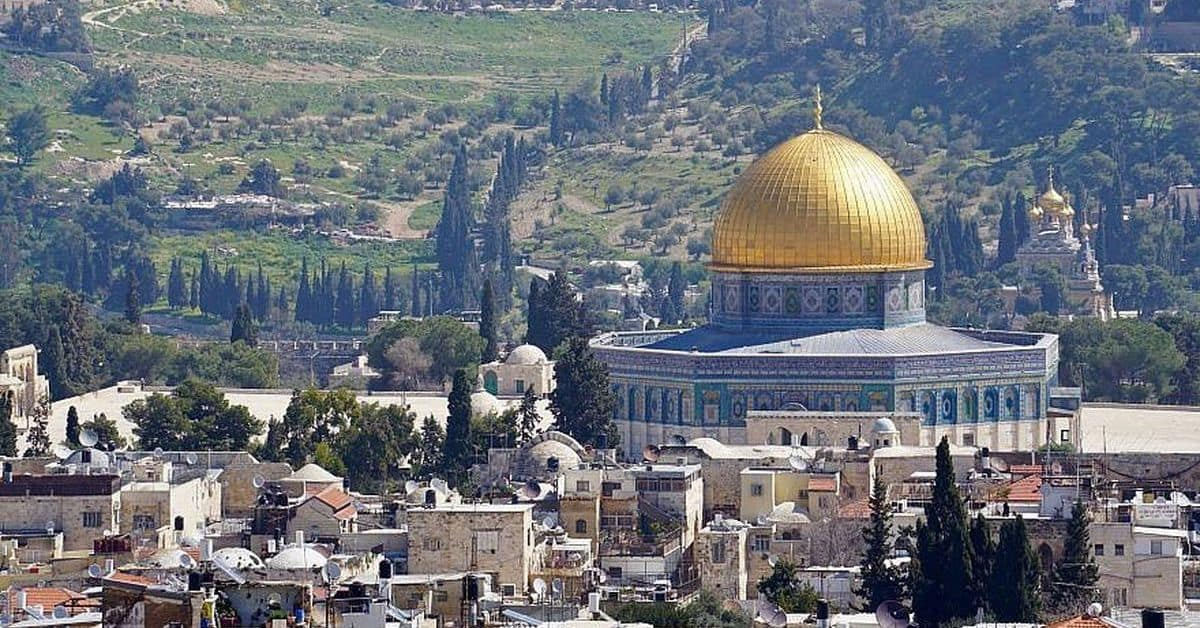 The Dome of the Rock on Temple Mount in Jerusalem Deception
