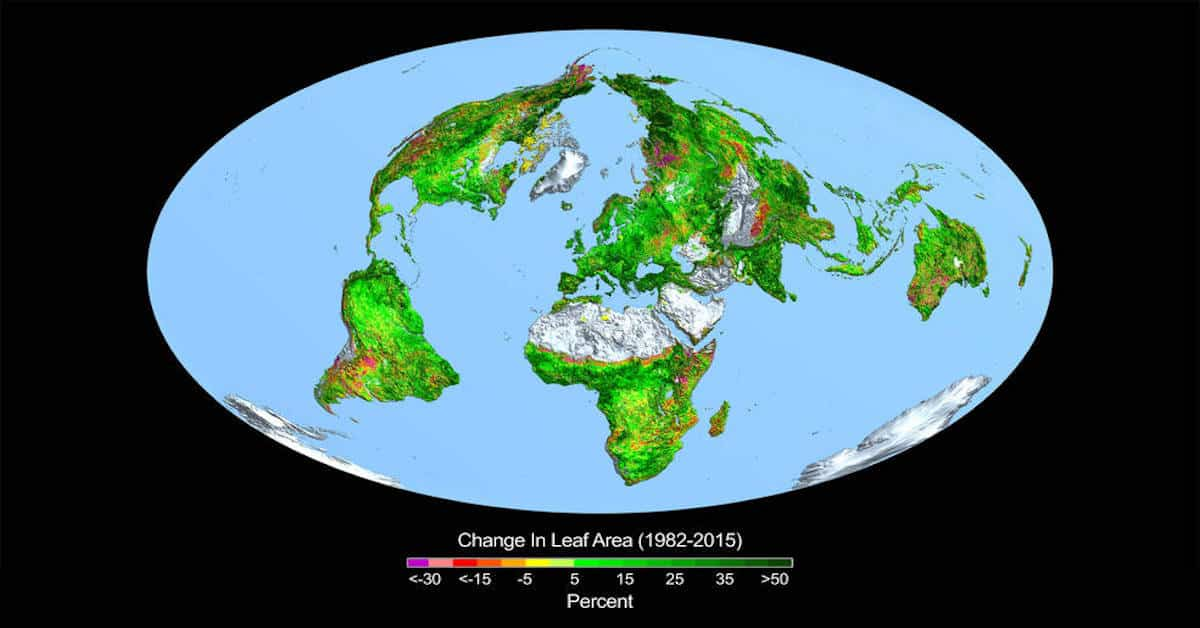 Biden Wrong on Carbon Dioxide – NASA says it is Greening the Planet